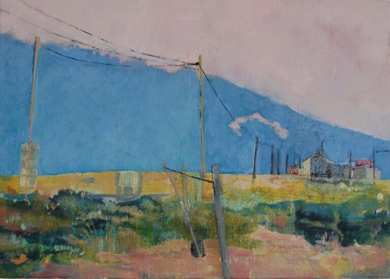 painting of Golden light at Dungeness