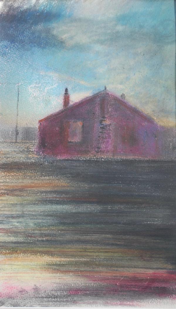 Ocean View Cottage Dungeness after Sundown.