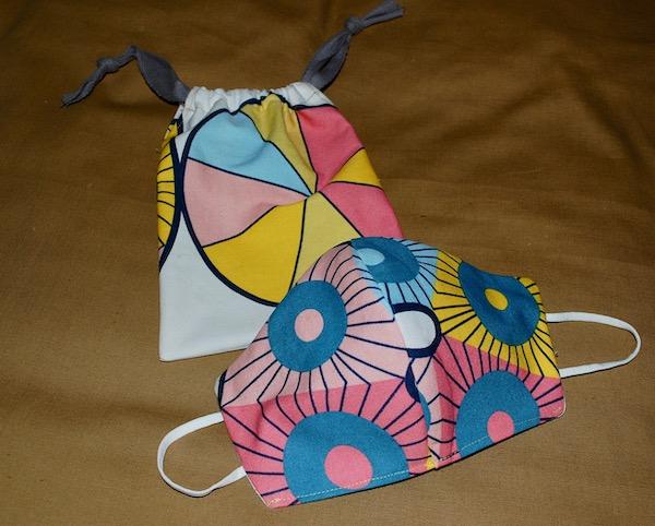 Scandi mask and bag