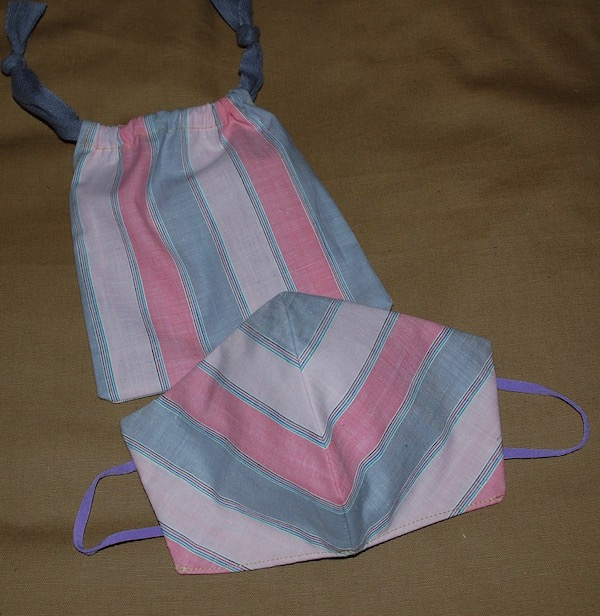 triple treat striped bag and mask