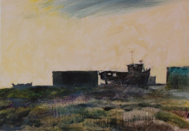 Beached boats at Dungeness